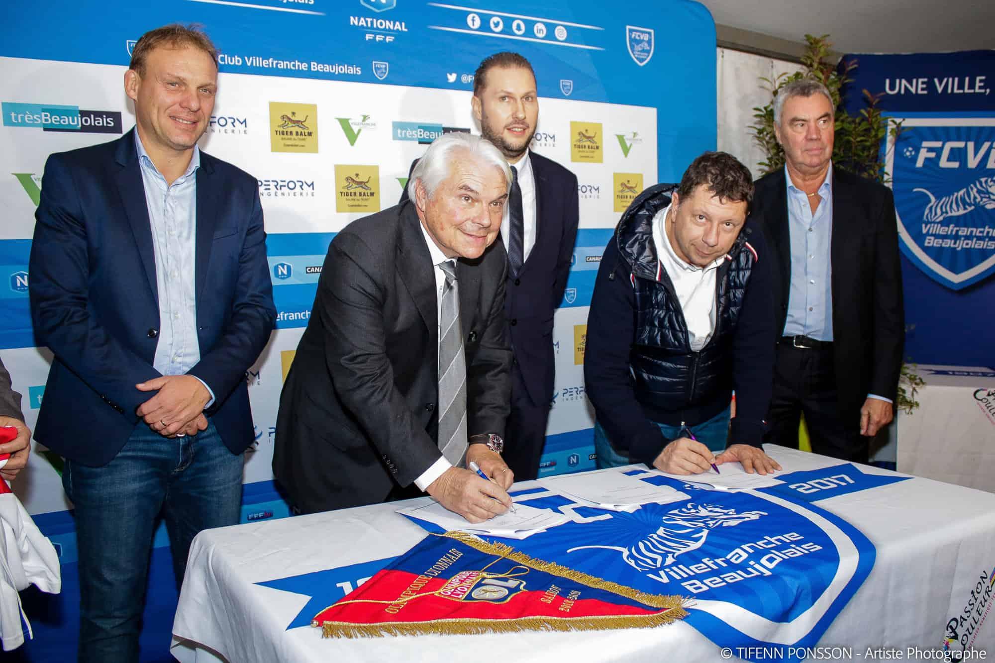Le Football Club Villefranche Beaujolais officiellement dans le Réseau Sport Excellence de l'Olympique Lyonnais !