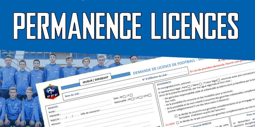 Permanence licences – Saison 2019-2020